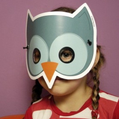 Eule-Maske / Bastelset