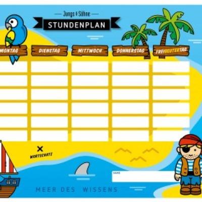 Stundenplan Pirat laminiert