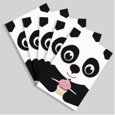 Postkartenset Panda / 5 Postkarten
