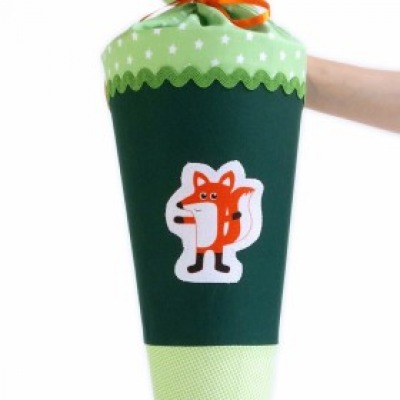 Schultüte Fuchs grün 70cm