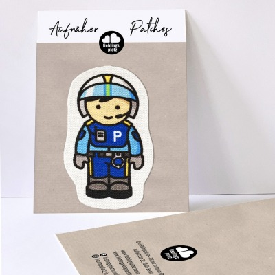 Aufnäher Polizist Polizei