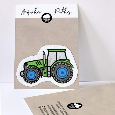 Aufnäher Traktor grün