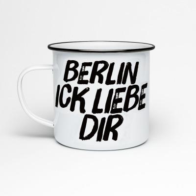 Emailletasse Berlin ick liebe dir Emaillebecher