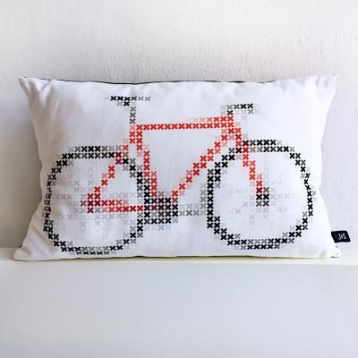 Fahrrad Kissen Fixie Bike Kreuzstich mit