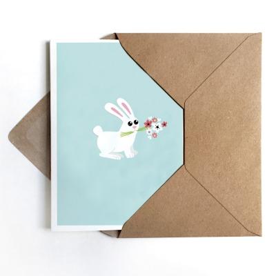 Grußkarte Bunny Osterkarte mit Hase