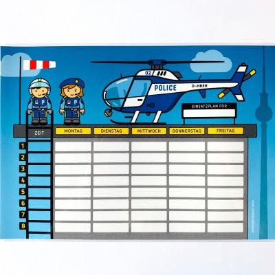 Stundenplan Polizei - laminiert A4