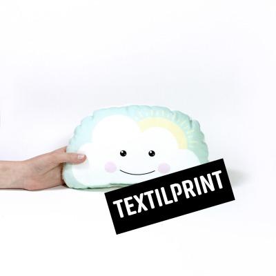 Textilprint zum selber nähen kleines Schönwetterkissen