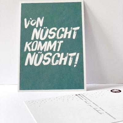 Postkarte von nüscht komt nüscht Berliner