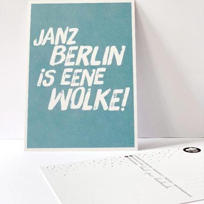 Postkarte janz Berlin is eene Wolke