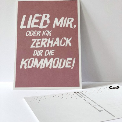 Postkarte Lieb mir Berliner Mundart