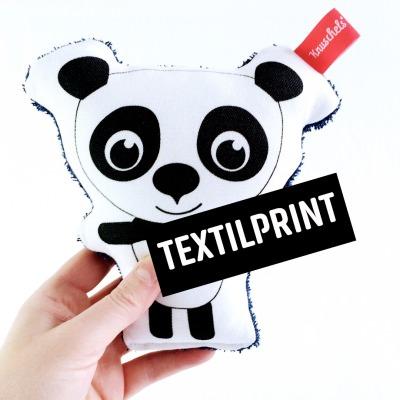 Textilprint zum selber nähen Panda