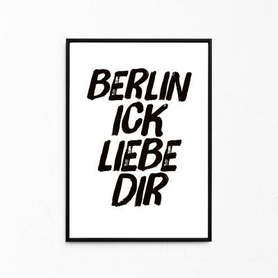 Berlin ick liebe dir Kleines Poster