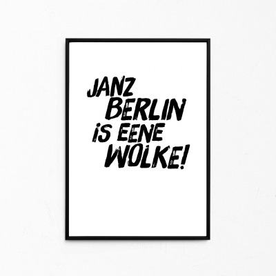 Janz Berlin is eene Wolke Kleines