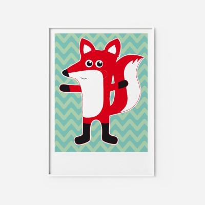 Kinderzimmerbild Fuchs Poster Fuchsposter Poster Kinderzimmerdekoration