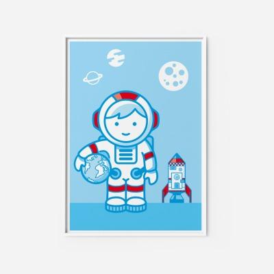 Kinderzimmerbild Astronaut Poster - Poster Kinderzimmerdekoration