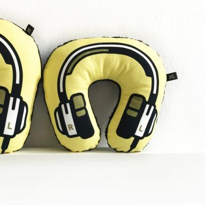 Kopfhörer Nackenkissen gelb KIDS Headphone neck