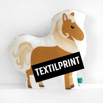 Textilprint zum selber nähen Pferdekissen großes