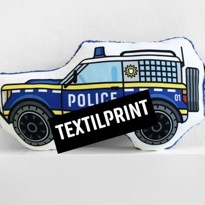 Textilprint zum selber nähen Polizeiauto