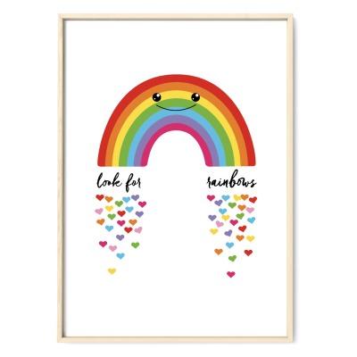 Regenbogen Poster Plakat Kinderzimmerposter DIN A2