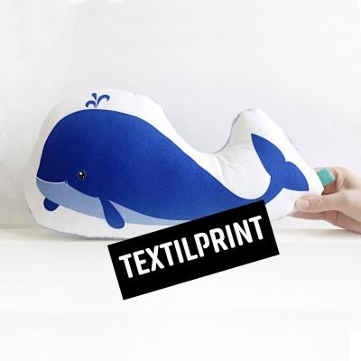 Textilprint zum selber nähen Wal als