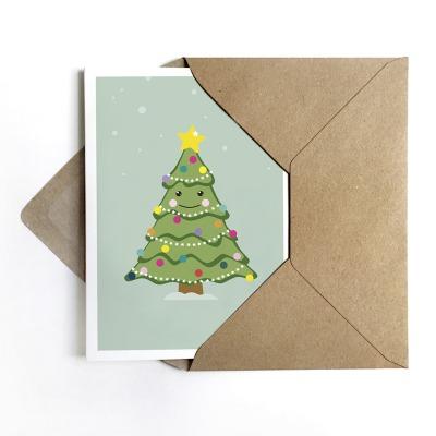 Grußkarte Weihnachtsbaum Weihnachtskarte