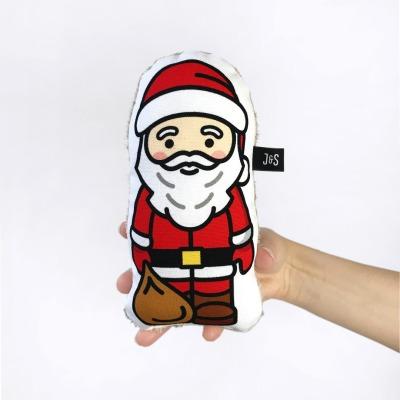 Weihnachtsmann Rassel handlich und weich Baby