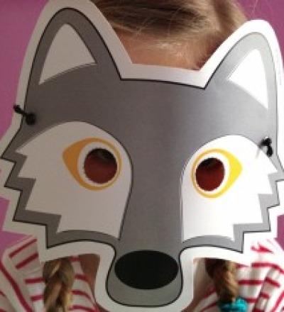 Wolf-Maske / Bastelset