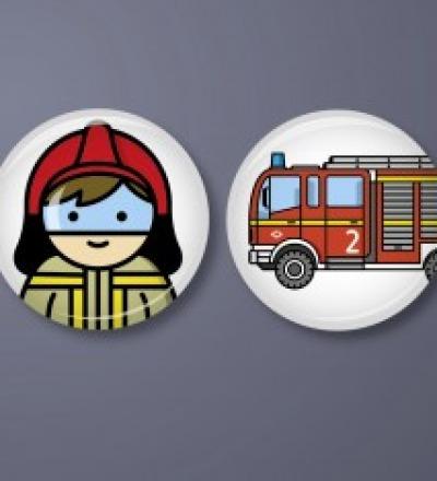 Button Set Feuerwehr