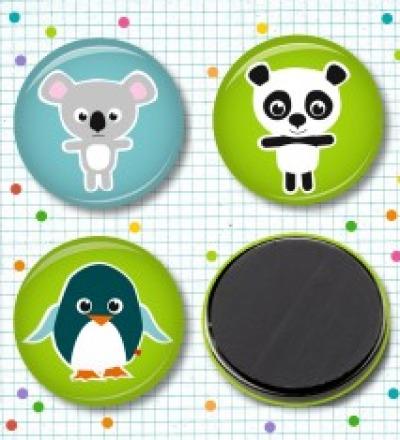 Magnetset Koala, Panda & Pingu - 3 Stück