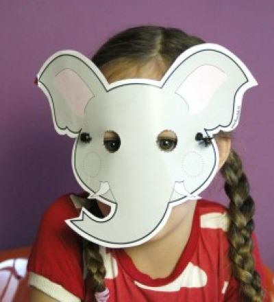Elefanten-Maske / Bastelset