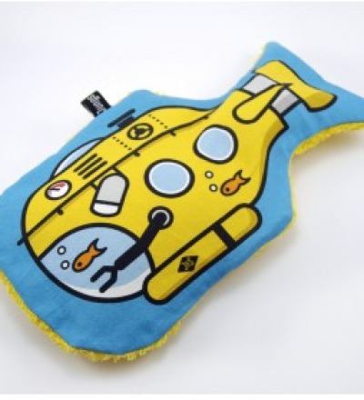 U-Boot Waermflasche Yellow Submarine
