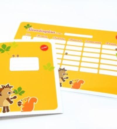 SET / Stundenplan & Schulheft Igel & Hörnchen