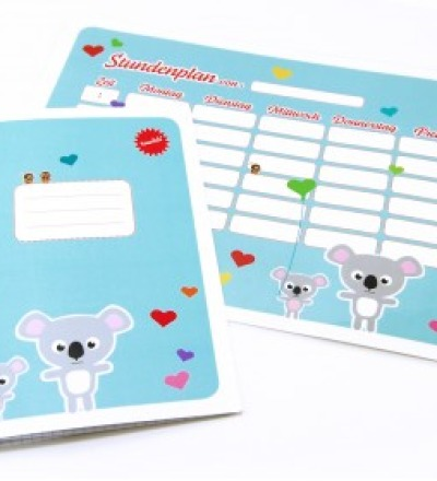 SET / Stundenplan  Schulheft Famile Koala
