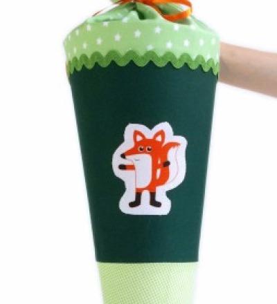 Schultüte Fuchs grün, 70cm