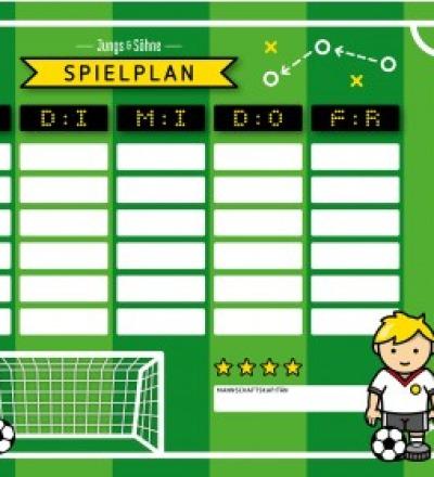 Stundenplan Fussball laminiert