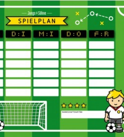 Stundenplan Fußball laminiert