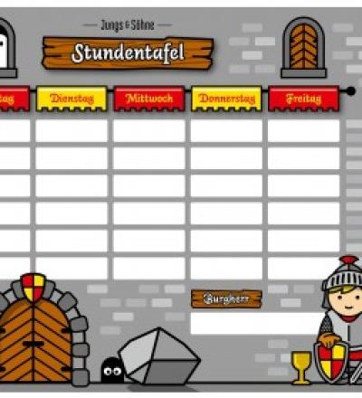 Stundenplan Ritter laminiert