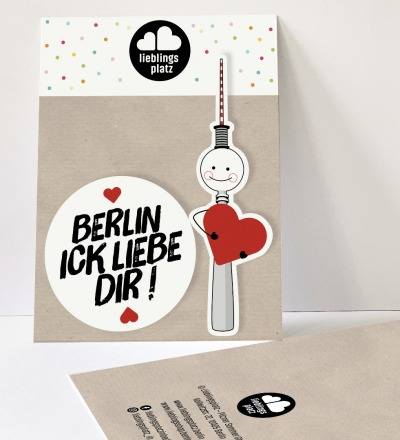 Aufkleberset Berlin ick liebe dir Berlin Aufkleber berliner Mundart Sticker Berliner Fernsehturm - Outdooraufkleber, vegan