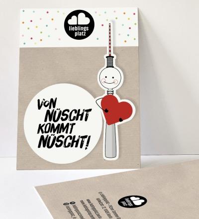 Aufkleberset von nüscht kommt nüscht Berlin Aufkleber berliner Mundart Sticker Berliner Fernsehturm - Outdooraufkleber, vegan