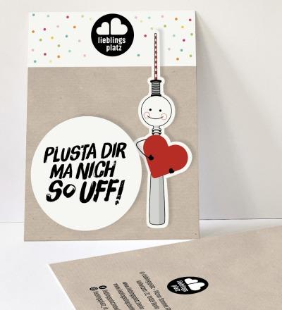 Aufkleberset plusta dir ma nich so uff Berlin Aufkleber berliner Mundart Sticker Berliner Fernsehturm - Outdooraufkleber, vegan