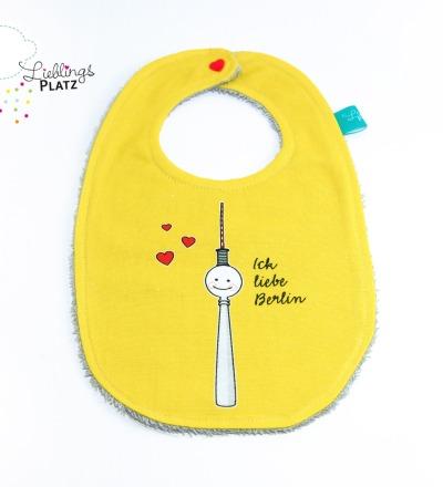 Lätzchen Fernsehturm Berlin Baby gelb