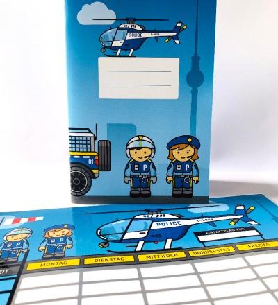SET / Stundenplan & Schulheft Polizei - abwischbarer Plan