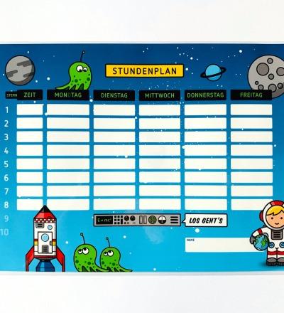 Stundenplan Astronaut - laminiert A4