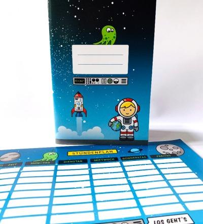 SET / Stundenplan & Schulheft Astronaut - abwischbarer Plan