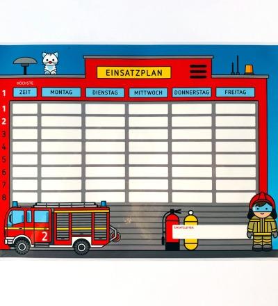 Stundenplan Feuerwehr - laminiert A4