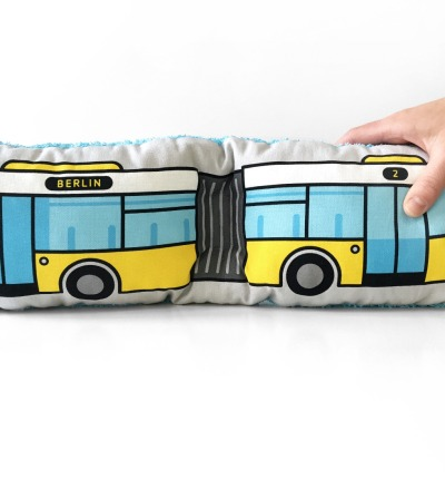 Bus Kissen Schlenkerbus gross - Berliner Bus