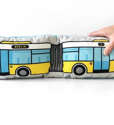 Bus Kissen Schlenkerbus groß - Berliner Bus