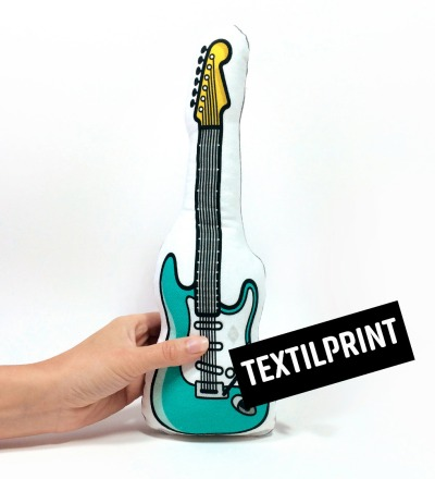 E-Gitarre RASSEL in türkis