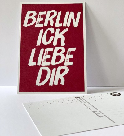 Postkarte, Berlin ick liebe dir... Berliner Mundart