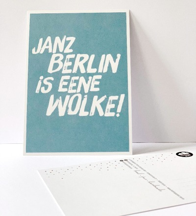 Postkarte, janz Berlin is eene Wolke ... Berliner Mundart